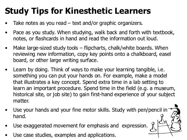 writing an essay on a kinesthetic learner