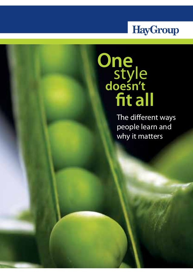 Learning Styles : One Style Doesn't Fit All