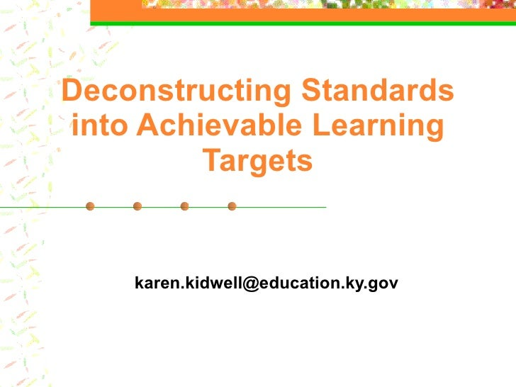 Learning Targets by Karen Kidwell