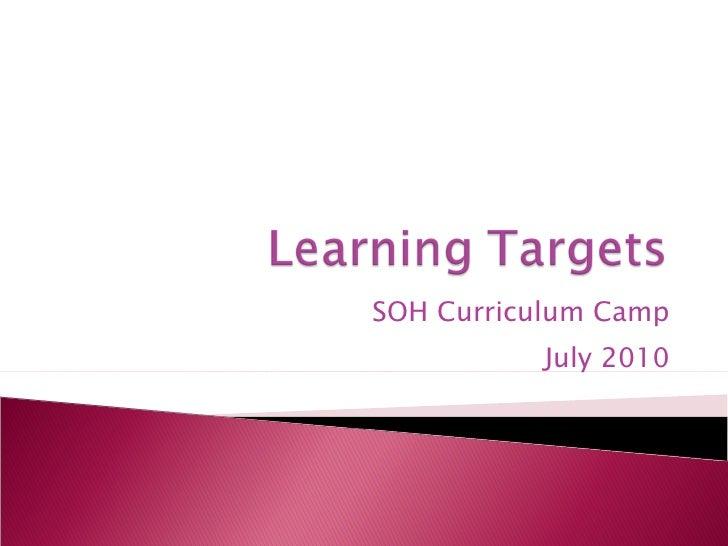 SOH Curriculum Camp July 2010