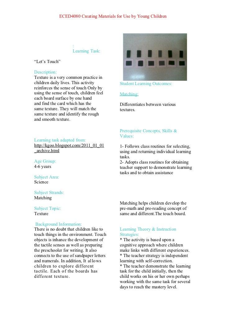 Learning task111