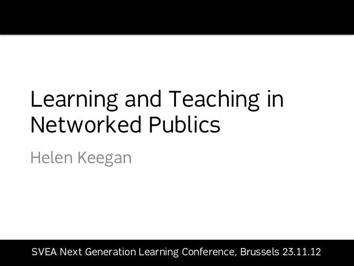 Learning and Teaching in Networked Publics