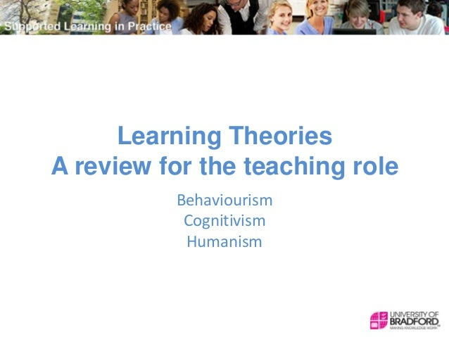 Learning Theories A review for the teaching role Behaviourism Cognitivism Humanism