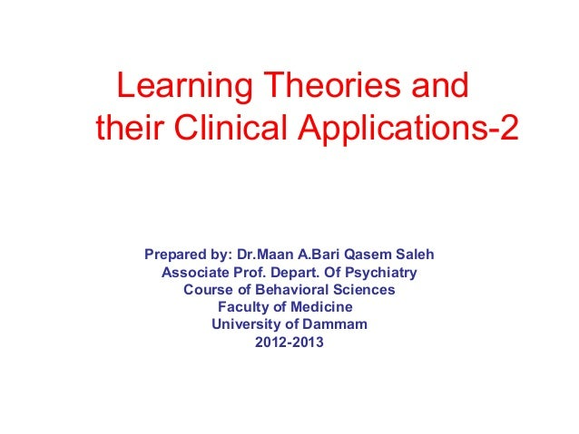 Learning theories 2