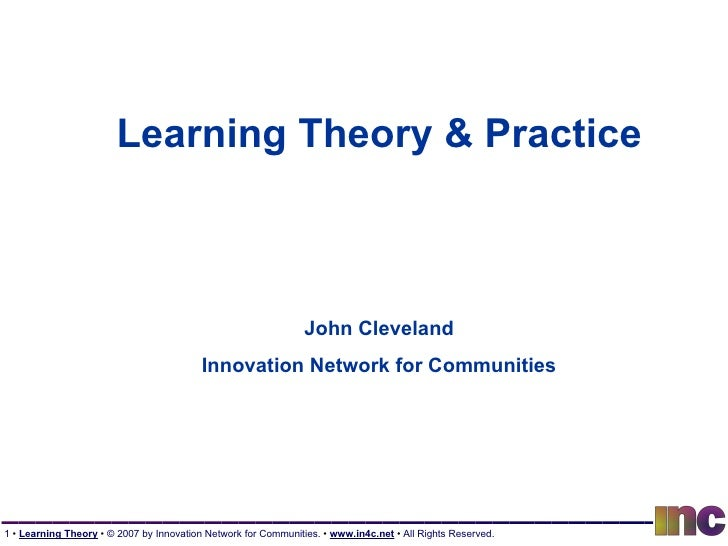 Learning Theory And Practice