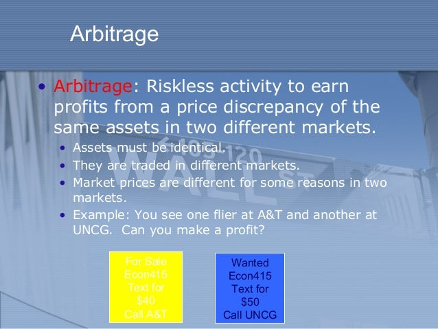 Arbitrage and the Value of Time in Finance