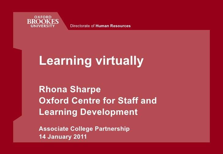 Learning virtually