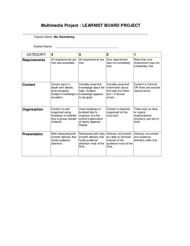 planets project rubric - photo #15
