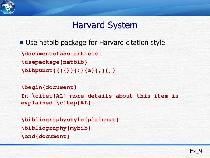 Harvard dissertation format