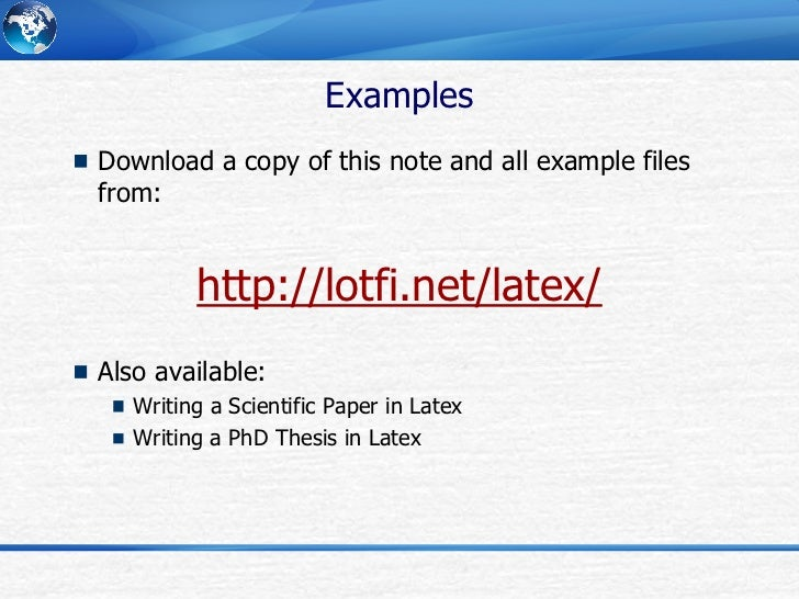 Phd Thesis With Latex