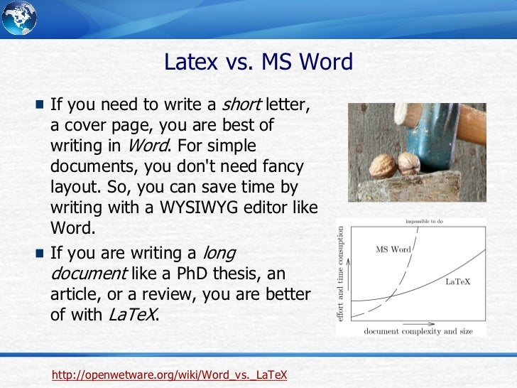 Writing Phd Thesis With Latex
