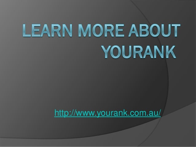 Learn more about you rank