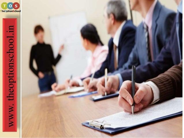 Training on option trading