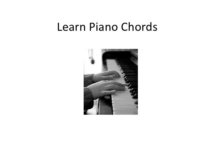 Piano learn how to play
