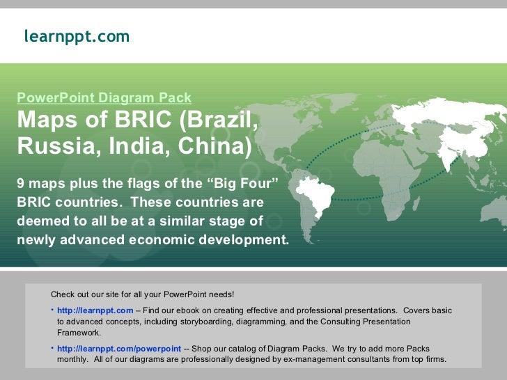 Maps of BRIC (Brazil, Russia, India, China)