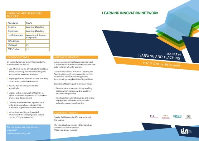 LEARNING AND TEACHINGMODULE Attendance            N/A % Discipline            Learning & Teaching Coordinator           Le...