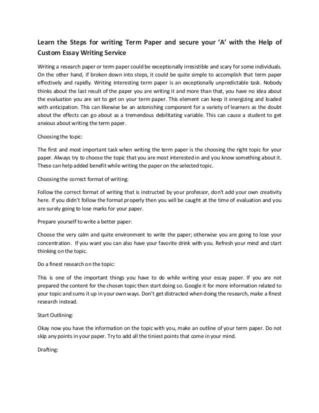 Customize writing paper
