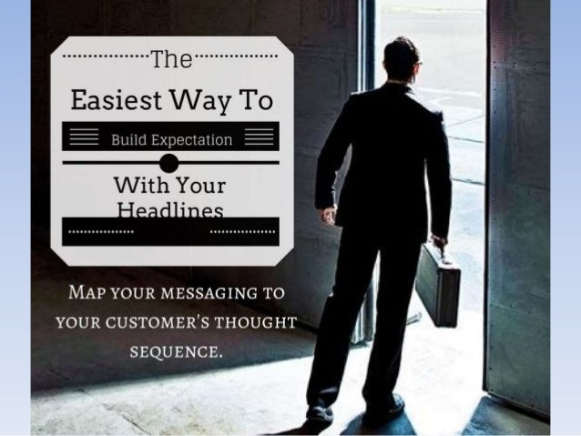 Here's the easiest way to build expectation with your headlines