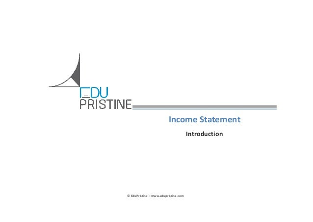 #CFA: Learn to develop income statements in detail