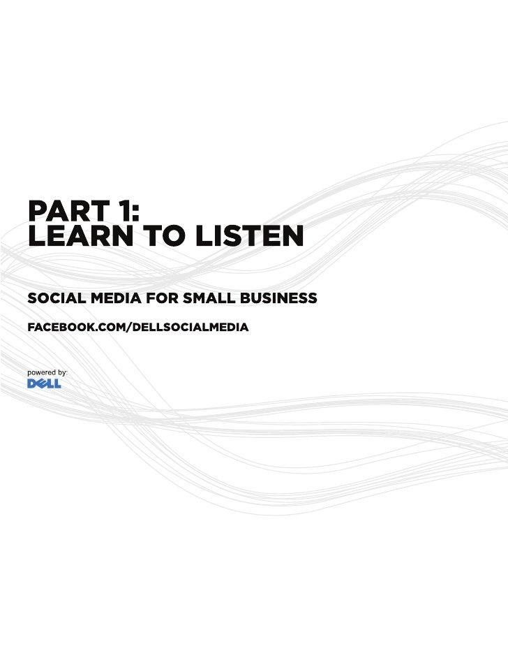Learn To Listen - Social Media Guide