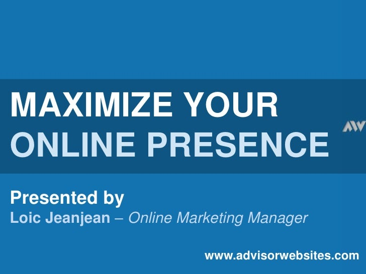 Learn to maximize your financial website