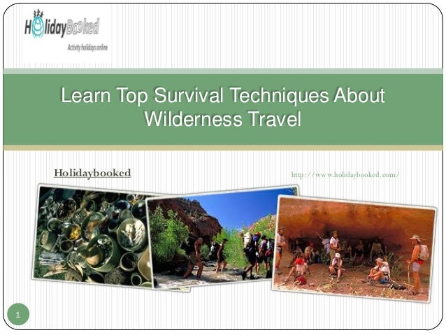 Learn Top Survival Techniques About Wilderness Travel