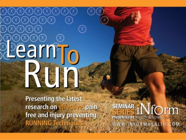 Learn to run. What we know and what we made up.