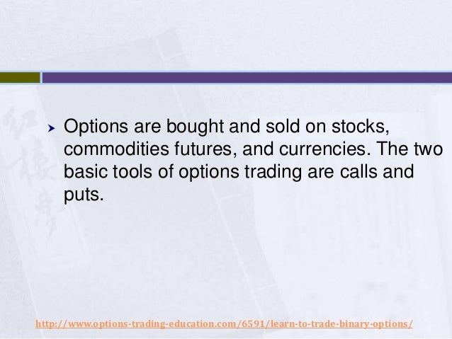 The binary options robot analytical facts