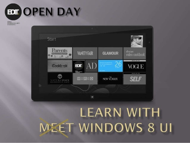 Learn with windows8 ui