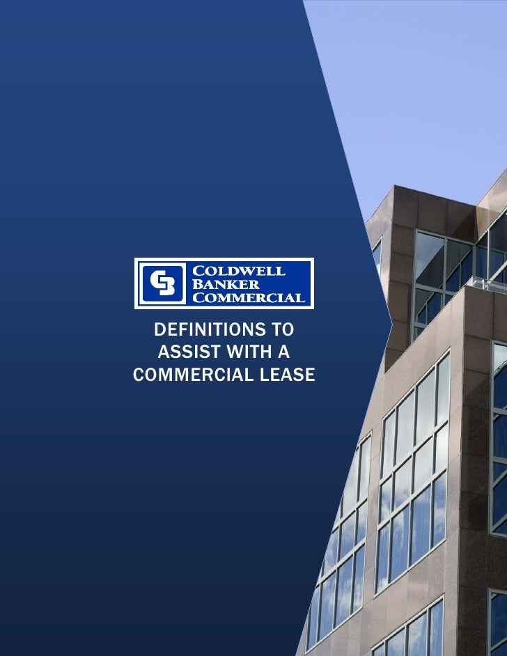 DEFINITIONS TO       ASSIST WITH A     COMMERCIAL LEASE