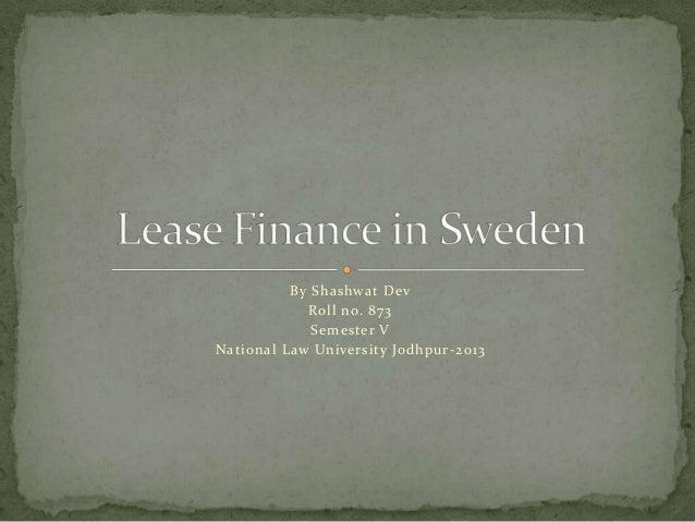 Lease finance in sweden