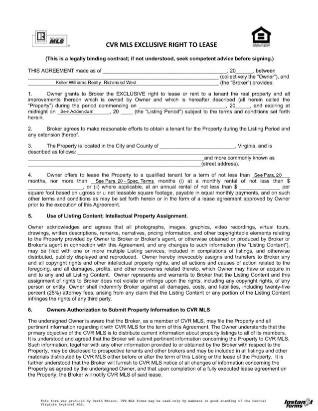 Sample Month to Month Rental Agreement Form