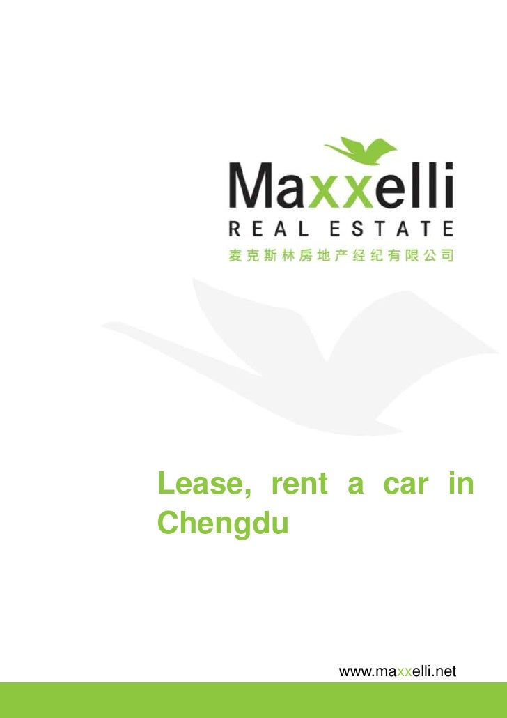 Lease, rent a car in Chengdu               www.maxxelli.net