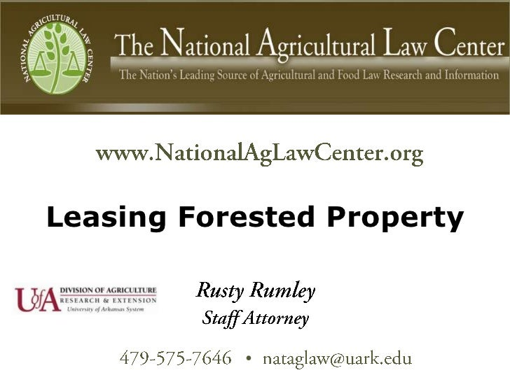 Leasing Forested Property           •
