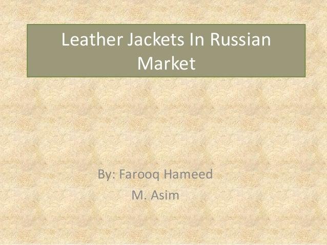 Leather jackets in russian market