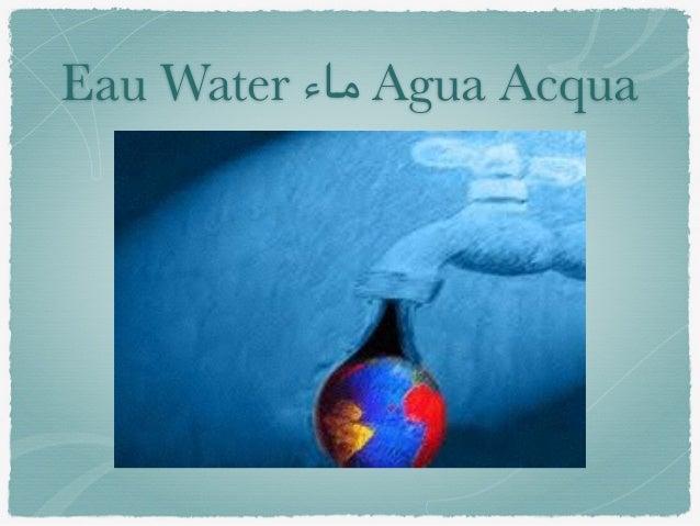 Eau Water ماء Agua Acqua