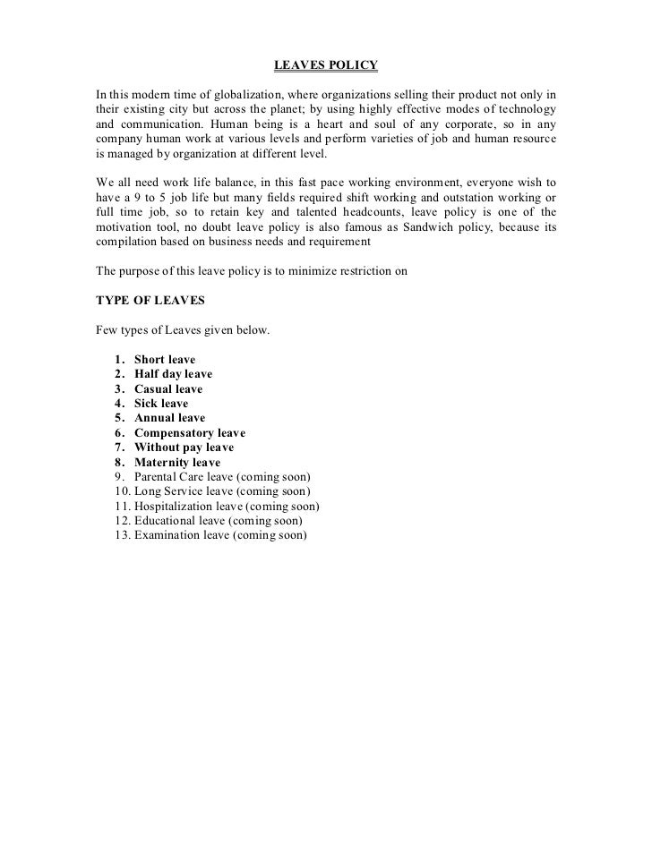 Annual Leave Format Application Essay - image 7