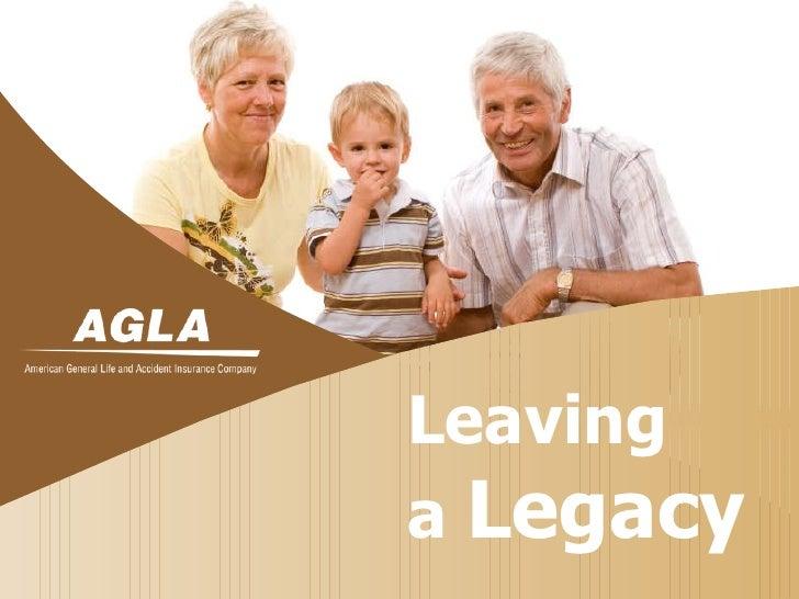 Leaving a legacy consumer presentation