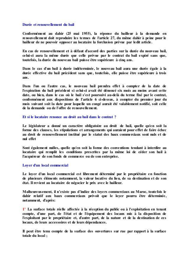 Droits fondamentaux et contrat de bail dissertation
