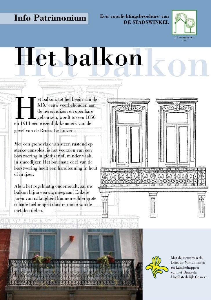 Info Patrimonium                             Een voorlichtingsbrochure van                                                ...