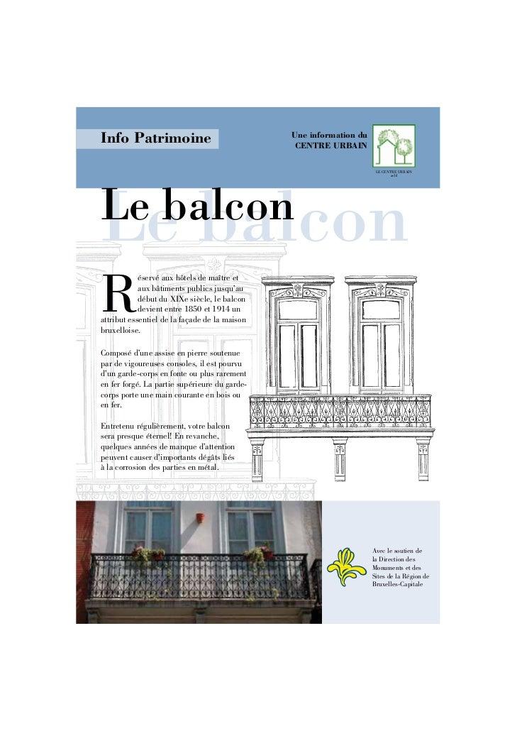 Info Patrimoine                                Une information du                                                CENTRE UR...