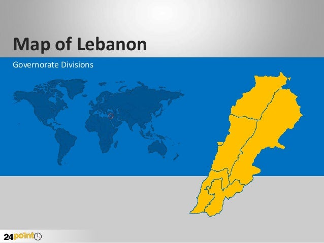 Editable PowerPoint Map of Lebanon