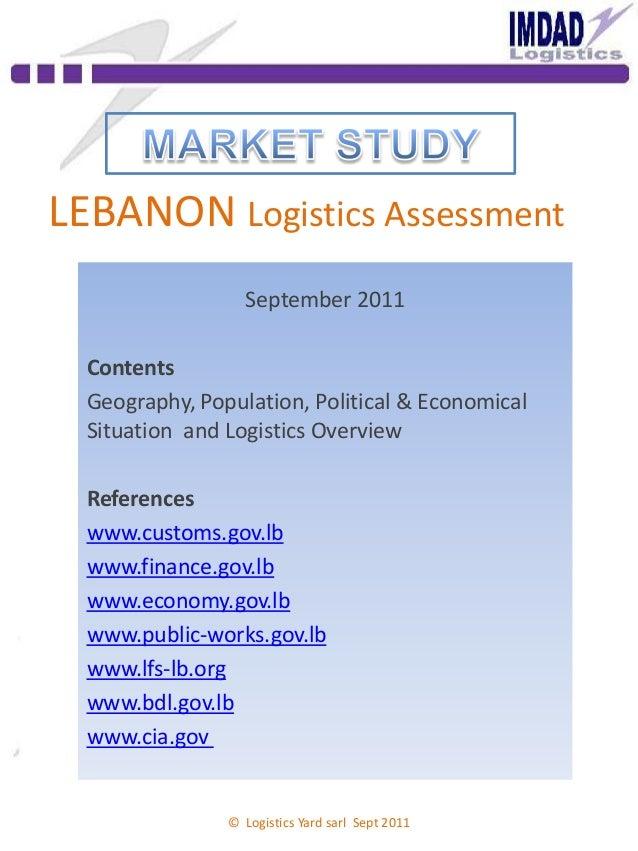 Lebanon logistics assessment italy presentation imdad