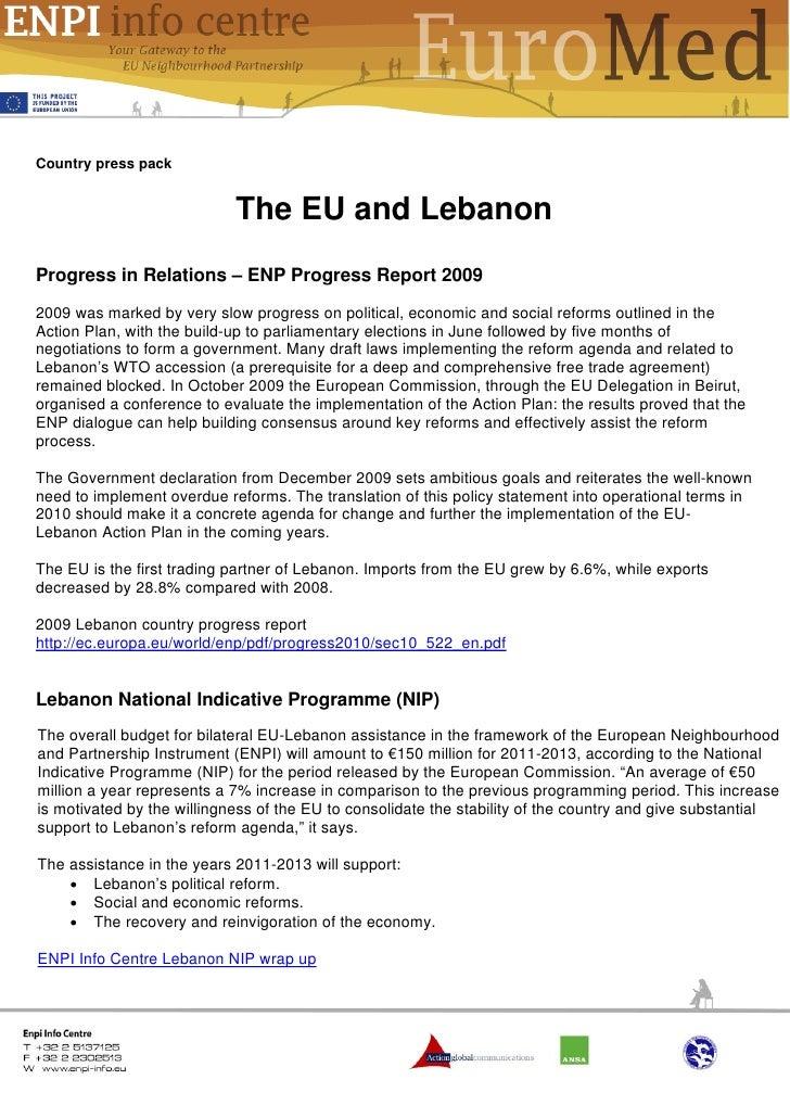 The EU and Lebanon