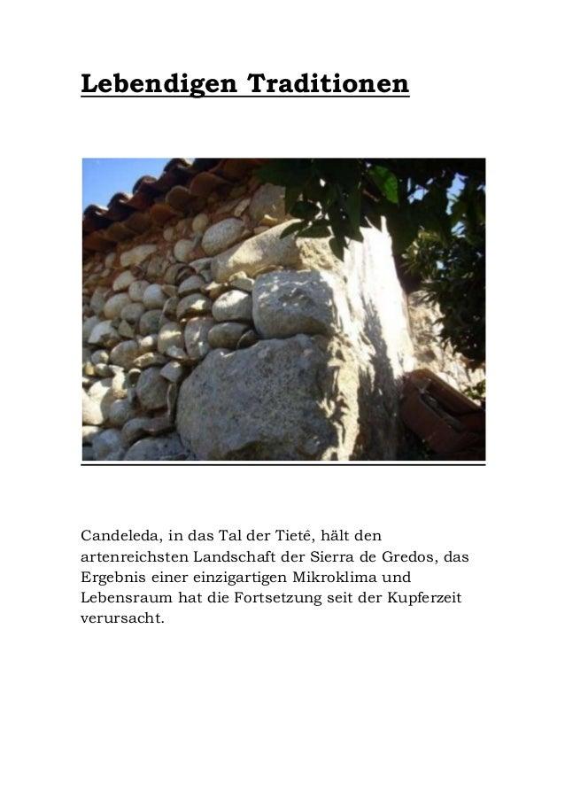 Lebendigen Traditionen  Candeleda, in das Tal der Tietê, hält den artenreichsten Landschaft der Sierra de Gredos, das Erge...