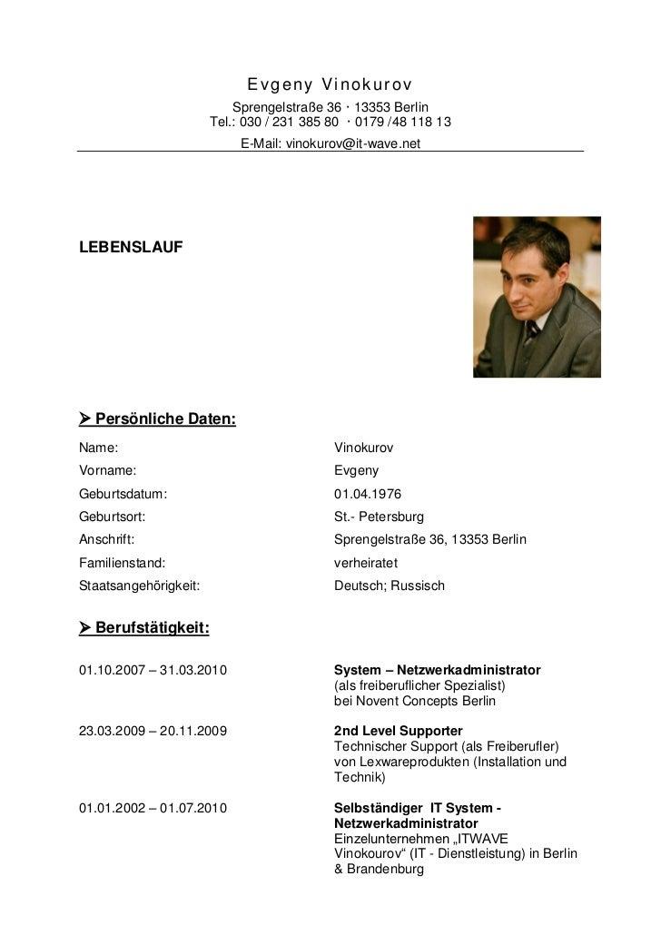 Evgeny Vinokurov                           Sprengelstraße 36 · 13353 Berlin                       Tel.: 030 / 231 385 80 ·...