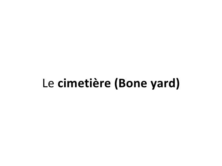Le cimetière (Bone yard)