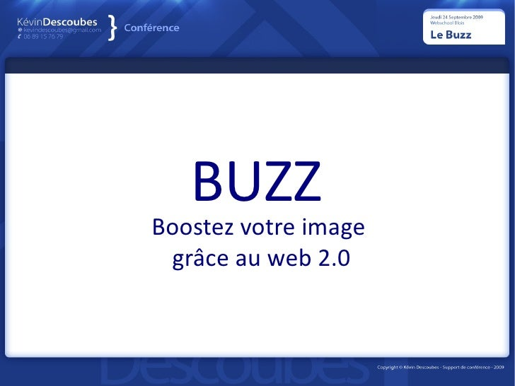 BUZZ Boostez votre image  grâce au web 2.0