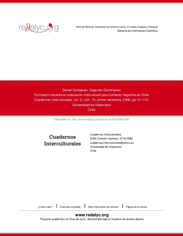 Disponible en: http://www.redalyc.org/articulo.oa?id=55261006 Red de Revistas Científicas de América Latina, el Caribe, Es...
