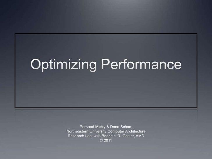 Lec08 optimizations